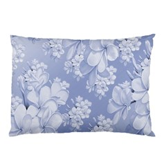 Delicate Floral Pattern,blue  Pillow Cases (two Sides)