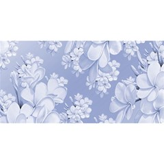 Delicate Floral Pattern,blue  You Are Invited 3d Greeting Card (8x4)