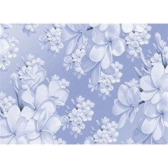 Delicate Floral Pattern,blue  Birthday Cake 3D Greeting Card (7x5)