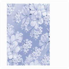 Delicate Floral Pattern,blue  Small Garden Flag (Two Sides)