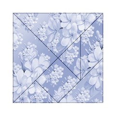 Delicate Floral Pattern,blue  Acrylic Tangram Puzzle (6  x 6 )