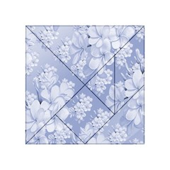 Delicate Floral Pattern,blue  Acrylic Tangram Puzzle (4  x 4 )