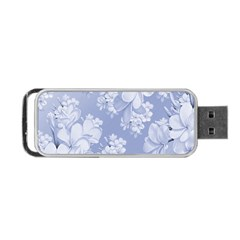Delicate Floral Pattern,blue  Portable Usb Flash (one Side)