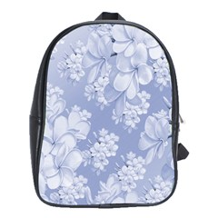 Delicate Floral Pattern,blue  School Bags (xl)