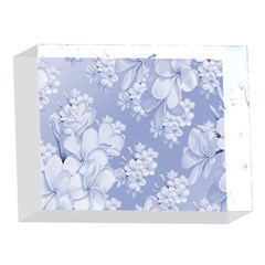 Delicate Floral Pattern,blue  5 x 7  Acrylic Photo Blocks