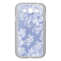 Delicate Floral Pattern,blue  Samsung Galaxy Grand Duos I9082 Case (white)