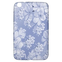 Delicate Floral Pattern,blue  Samsung Galaxy Tab 3 (8 ) T3100 Hardshell Case