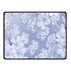 Delicate Floral Pattern,blue  Double Sided Fleece Blanket (Small)