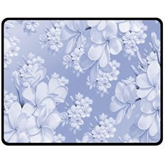 Delicate Floral Pattern,blue  Double Sided Fleece Blanket (Medium)