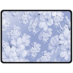 Delicate Floral Pattern,blue  Double Sided Fleece Blanket (Large)