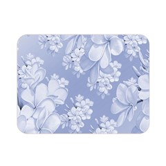 Delicate Floral Pattern,blue  Double Sided Flano Blanket (mini)