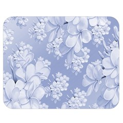 Delicate Floral Pattern,blue  Double Sided Flano Blanket (Medium)