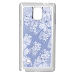 Delicate Floral Pattern,blue  Samsung Galaxy Note 4 Case (White)