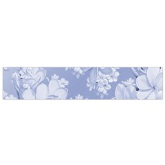 Delicate Floral Pattern,blue  Flano Scarf (Small)