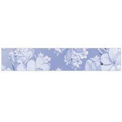 Delicate Floral Pattern,blue  Flano Scarf (Large)