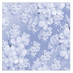 Delicate Floral Pattern,blue  Large Satin Scarf (Square)