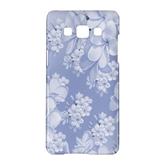 Delicate Floral Pattern,blue  Samsung Galaxy A5 Hardshell Case