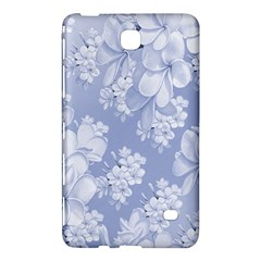 Delicate Floral Pattern,blue  Samsung Galaxy Tab 4 (8 ) Hardshell Case