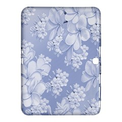 Delicate Floral Pattern,blue  Samsung Galaxy Tab 4 (10.1 ) Hardshell Case