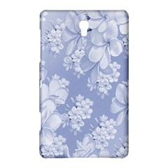 Delicate Floral Pattern,blue  Samsung Galaxy Tab S (8 4 ) Hardshell Case