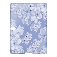 Delicate Floral Pattern,blue  Samsung Galaxy Tab S (10.5 ) Hardshell Case