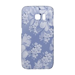 Delicate Floral Pattern,blue  Galaxy S6 Edge