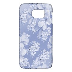 Delicate Floral Pattern,blue  Galaxy S6