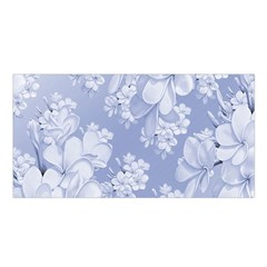 Delicate Floral Pattern,blue  Satin Shawl