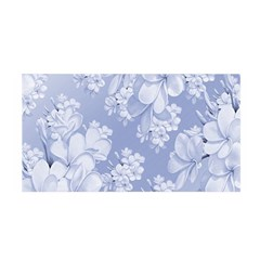 Delicate Floral Pattern,blue  Satin Wrap
