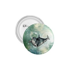 Funny Dswimming Dolphin 1 75  Buttons