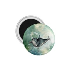 Funny Dswimming Dolphin 1 75  Magnets