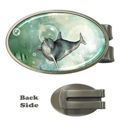 Funny Dswimming Dolphin Money Clips (oval)