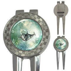 Funny Dswimming Dolphin 3 In 1 Golf Divots