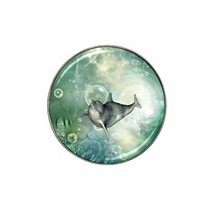 Funny Dswimming Dolphin Hat Clip Ball Marker