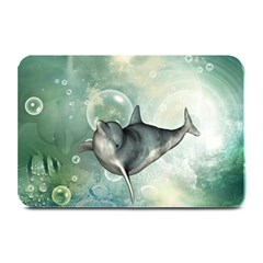 Funny Dswimming Dolphin Plate Mats