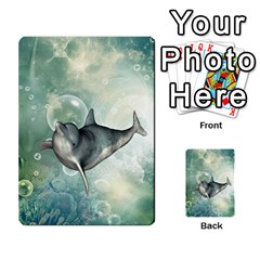 Funny Dswimming Dolphin Multi-purpose Cards (Rectangle)