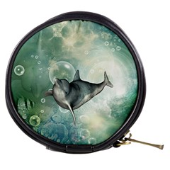 Funny Dswimming Dolphin Mini Makeup Bags