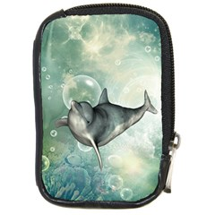 Funny Dswimming Dolphin Compact Camera Cases