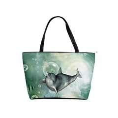 Funny Dswimming Dolphin Shoulder Handbags