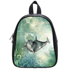 Funny Dswimming Dolphin School Bags (small)