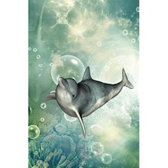 Funny Dswimming Dolphin 5.5  x 8.5  Notebooks