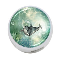 Funny Dswimming Dolphin 4 Port Usb Hub (two Sides)