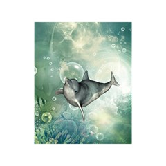 Funny Dswimming Dolphin Shower Curtain 48  x 72  (Small)