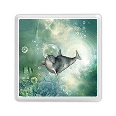 Funny Dswimming Dolphin Memory Card Reader (Square)