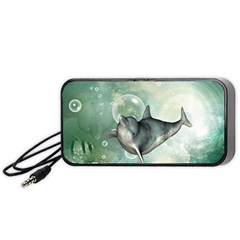 Funny Dswimming Dolphin Portable Speaker (black)