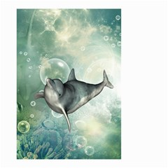 Funny Dswimming Dolphin Small Garden Flag (Two Sides)