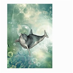 Funny Dswimming Dolphin Large Garden Flag (Two Sides)