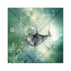 Funny Dswimming Dolphin Acrylic Tangram Puzzle (6  x 6 )