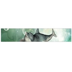 Funny Dswimming Dolphin Flano Scarf (large)