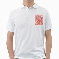 Delicate Floral Pattern,pink  Golf Shirts